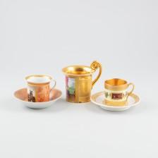 Kaakaokuppi ja kahvikuppeja, 2 kpl