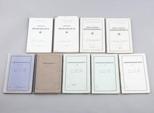 9 kpl lentopäiväkirjoja (Oskari Jussila, SLM 536)