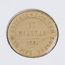 Kultaraha, 10 mk 1881
