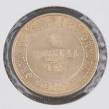 Kultaraha, 20 mk 1878