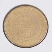Kultaraha, 20 mk 1911