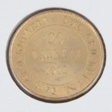 Kultaraha, 20 mk 1912