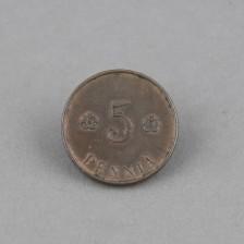 Kolikko, 5p 1918 I