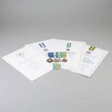 Kunniamerkkikokonaisuus kunniakirjoineen (Pekka Ruuska)
